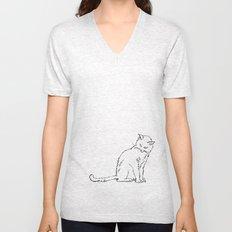 Cat illustration Unisex V-Neck