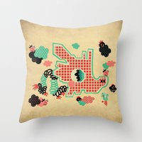 Dragon Playground Throw Pillow