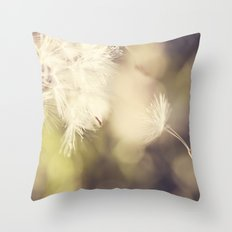 Broken Dandelion, Bokeh Throw Pillow