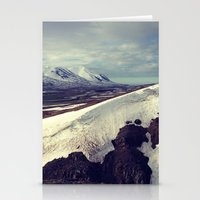 snow curves Stationery Cards