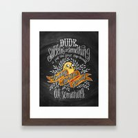 Wisdom of Jake Framed Art Print