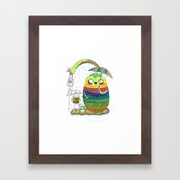Adventure time Totoro by Luna Portnoi Framed Art Print