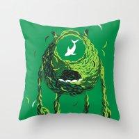 Wazowski of Fish Throw Pillow