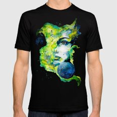 Esther Green (Set) by carographic watercolor portrait SMALL Mens Fitted Tee Black