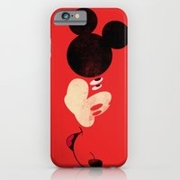 iPhone Cases featuring Deconstructing Mickey by ErDavid
