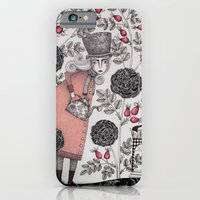 iPhone Cases featuring Winter Garden by Judith Clay