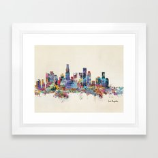 los angeles california skyline Framed Art Print