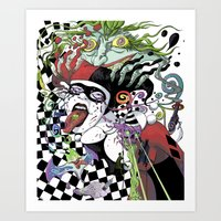 Harley Quinn and Madness Art Print