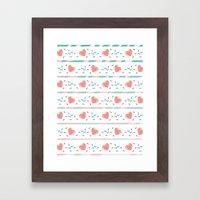 minty heart lightning Framed Art Print