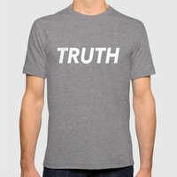 The Truth  Mens Fitted Tee Tri-Grey SMALL