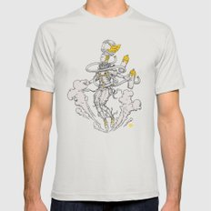 Vasto Cosmonaut  Mens Fitted Tee Silver SMALL