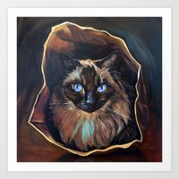 The Ragdoll Cat Is in the Bag Art Print