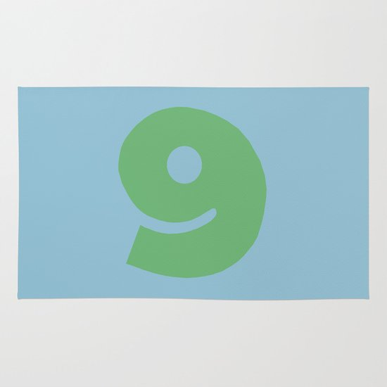 Number 9 Area & Throw Rug