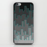 The Turquoise Outline iPhone & iPod Skin