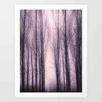 Woods Red Art Print