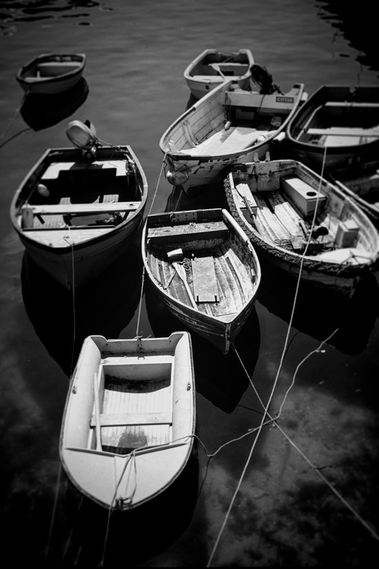 Nine Cornish Boats Art Print