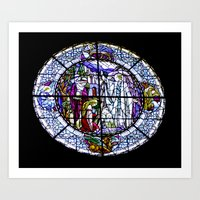 Round Stained Glass Art Print