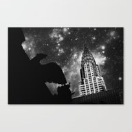Starry Night In New York Canvas Print