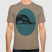 sydney in blue Mens Fitted Tee Tri-Coffee SMALL
