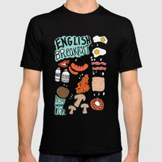 English Breakfast Mens Fitted Tee Black SMALL