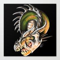 Armored Dragon Canvas Print
