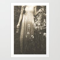 Flower Child 2 Black and White Art Print