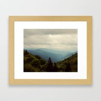 THE LIGHT THROUGH THE CLOUDS Framed Art Print