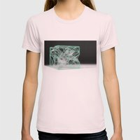 neon cube Womens Fitted Tee Light Pink SMALL