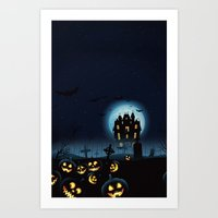 HALLOWEEN COLLECTION 11 Art Print
