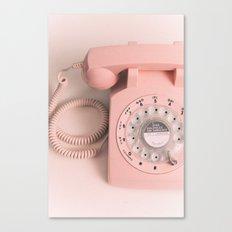 vintage PHONE pink Canvas Print