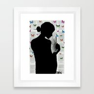 THE BUTTERFLY PATH Framed Art Print