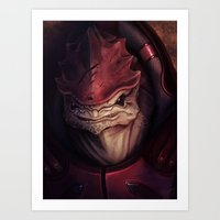 Mass Effect: Urdnot Wrex Art Print