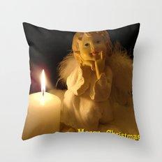 Warten aufs Christkind Throw Pillow