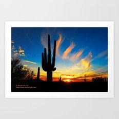 Sunset Souls Art Print