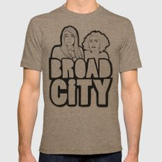 Broad City Mens Fitted Tee Tri-Coffee SMALL