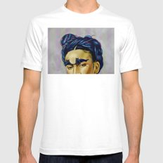 Frida Kat-lo Mens Fitted Tee White SMALL
