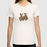 The Small Big Band Womens Fitted Tee Natural SMALL