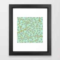mint flowers Framed Art Print
