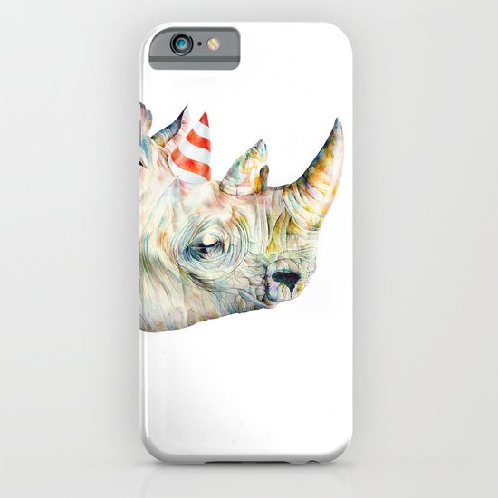 Rhino's Party iPhone & iPod Case