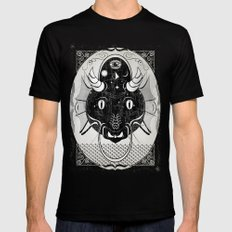 Luck Dragon Mens Fitted Tee Black SMALL
