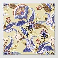 Boho Summer Floral Pattern Canvas Print