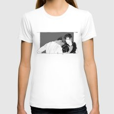 Getting Older Womens Fitted Tee White SMALL