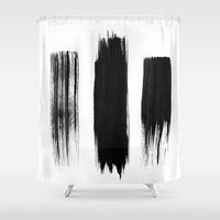 Black lines Shower Curtain
