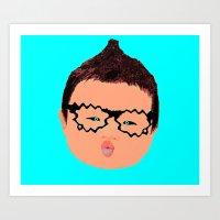 Snugglebot boy Art Print