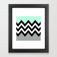 DOUBLE COLORBLOCK CHEVRO… Framed Art Print