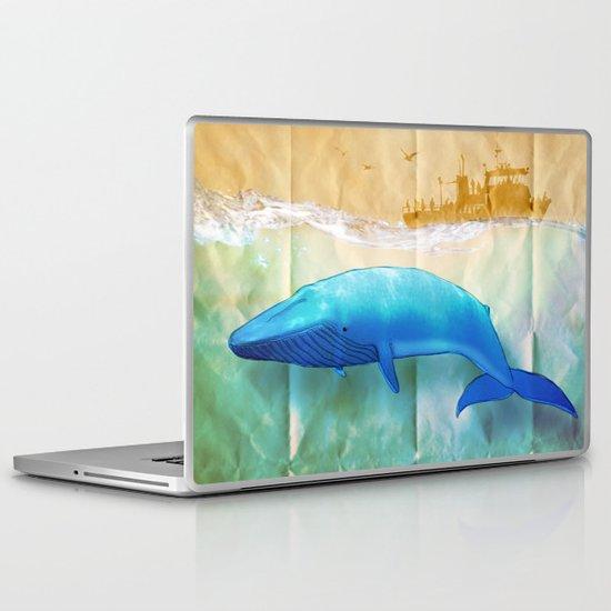 the beauty beneath _ humpback whale Laptop & iPad Skin