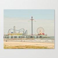Pleasure Pier Galveston … Canvas Print