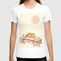 Lovebirds Womens Fitted Tee White SMALL