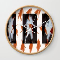 Orange dancer Wall Clock
