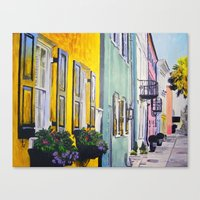 Row Of Color Canvas Print